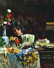 "Antonio Mancini, ""The Sulky Boy"" c. 1875"