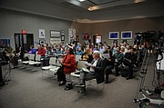 Approximately 100 people gathered at the Faulkner Gallery on Saturday morning to hear the process of selecting six district in the City of Santa Barbara (Feb. 28, 2014)