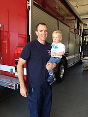 Daniel Corrigan and his son, Jack