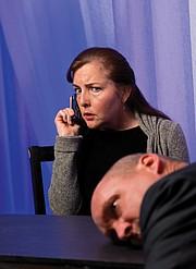 <b>HELLO, STRANGER:</b>  Jenna Scanlon is Jean, the woman who picks up in <i>Dead Man's Cell Phone</i>.