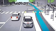 A prototype design for a protected intersection for bicyclists, pedestrians, and cars