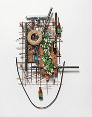 """<b>LOOKING AT YOU:</b>  Jack Lavender's assemblage piece """"Hannah"""" is a portrait of his wife."""