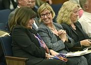 County Supervisor Janet Wolf (left), Assistant CEO Renee Bahl (center), and Planning Assistant Director Dianne Black (right)
