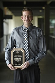 Brandon Sportel named 2016 Santa Barbara County Teacher of the Year. (May 14, 2015)