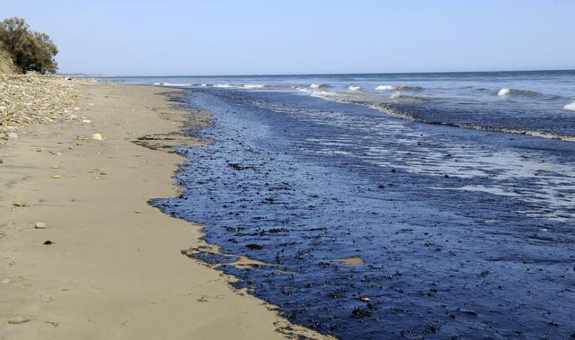 Big Oil Spill Along Refugio Coast