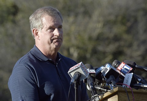 Greg Armstrong, CEO of Plains All American Pipeline, answers questions at a press conference following the May 19 oil spill. (May 20, 2015)