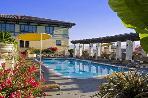 The Old World Spanish design at Hotel Valencia fits perfectly into its Santana Row San Jose location.