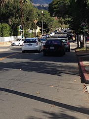This is what bicyclists encounter on Micheltorena Street.