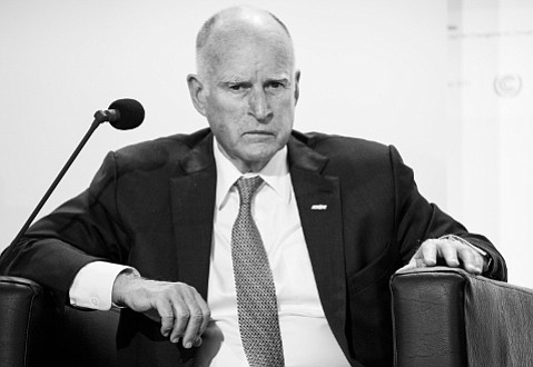 """California Governor Jerry Brown, the man in charge of the world's seventh largest economy, spoke about his state's take on climate change all around Paris. Among his bon mots: """"There are a lot of people who are not on the left who are working to get this deal done. As this conference comes to a positive conclusion, that will help us battle the knuckleheads."""""""