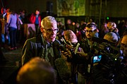 Climate crusader Bill McKibben takes questions in Montreuil.