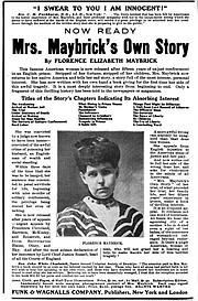 Maybrick tour ad in <em>Homiletic Review</em>, volume 49, 1905.
