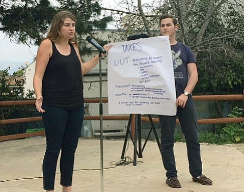Isla Vista residents talked tax options in February 2015 at Anisq'Oyo' Park.