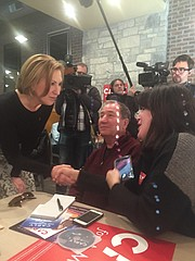 with Carly Fiorina