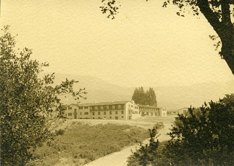 Cate School, which was then known as the Santa Barbara School, as it appeared in the mid-1930s.