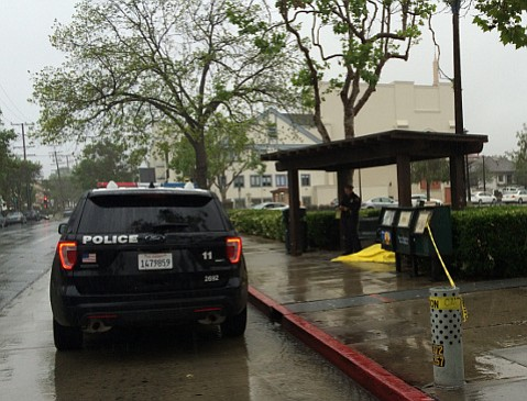 Police are investigating the death of a man at the bus stop at Anapamu and Chapala streets.