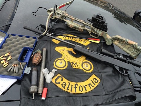 Items confiscated during a probation check of Gregory Jensen resulted in a bomb-scare evacuation of a Lompoc neighborhood.