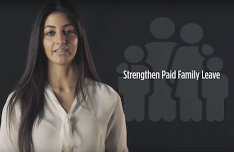 Assemblymember Katcho Achadjian's newest ad features his campaign manager and daughter, Nyri Achadjian, expressing his support for women.