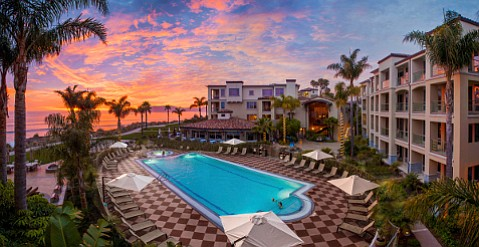 Sunset at Dolphin Bay Resort in Shell Beach adds to its charms.