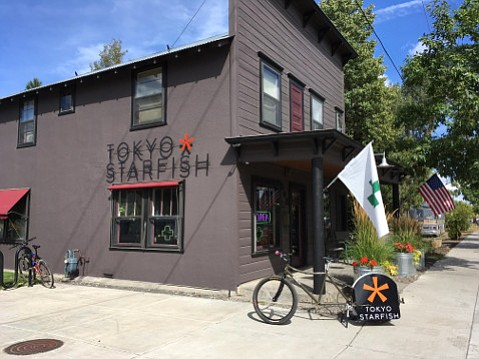 Like any business, the Tokyo Starfish marijuana store in Bend, Oregon, benefits from a great location.