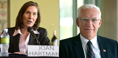 A political push poll regarding 3rd District supervisorial candidates — Joan Hartmann and Bruce Porter — has come under fire after a survey taker said the poll was commissioned by COLAB, and COLAB denied it.
