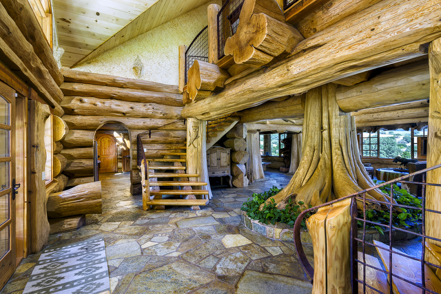 Log Cabin Mansions ~ Make myself at home log cabin mansion estate on highway