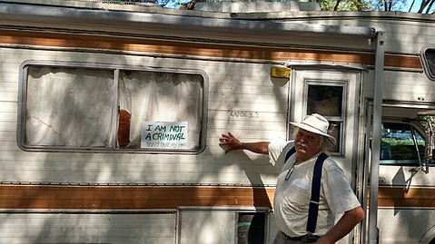 <b>PUSHBACK :</b> A Santa Barbara resident since 1998, artist Richard Paluch does not want to be forced out of town.