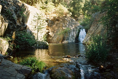 Water speaks its mind along the Wishon Trail.