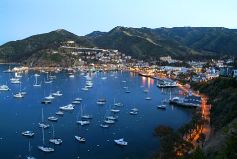 Catalina Island's beautiful Avalon Bay is only the first of many delights that greet visitors.