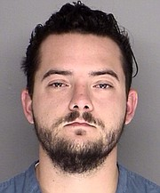 Tyler Alward booking photo.