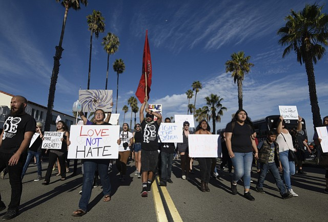 "Over a thousand Santa Barbarans marched in unity ""against hate"" on Saturday in a rally organized by PODER."