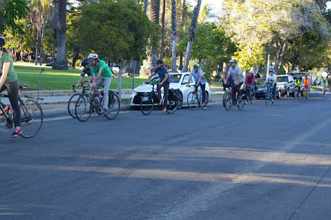 In anticipation of the Sola Street Bike Boulevard becoming a reality, Bicycle Coalition members go for a ride.