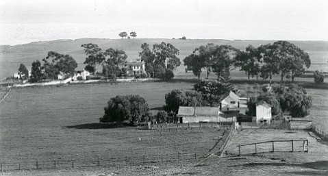 The Mesa, shown circa 1890, was largely uninhabited in modern times, belonging mostly to farm families.