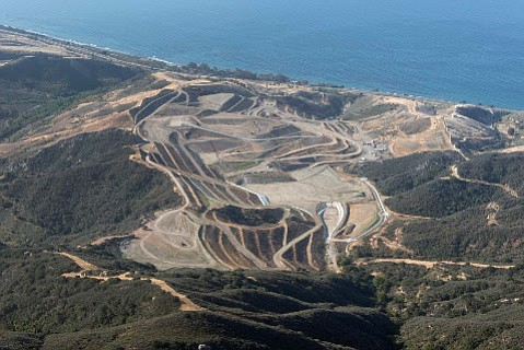 Tajiguas Landfill sits in an canyon above the Pacific Ocean on Santa Barbara County's Gaviota Coast.