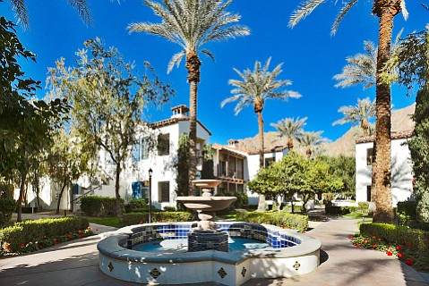 Fountains and other water features adorn the sprawling condo resort of Legacy Villas at La Quinta.