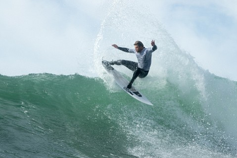 Dane Reynolds pictured mid-heat during last year's event.