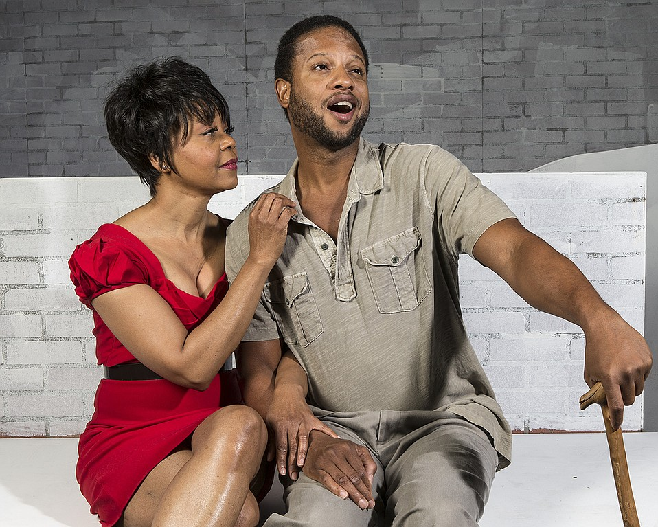 Karole Foreman and Elijah Rock in Porgy and Bess.
