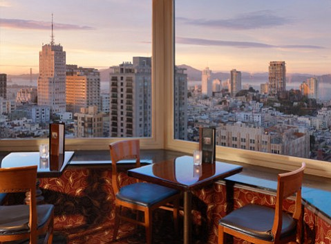 The Top of the Mark restaurant and lounge perches atop San Francisco's IC Mark Hopkins.