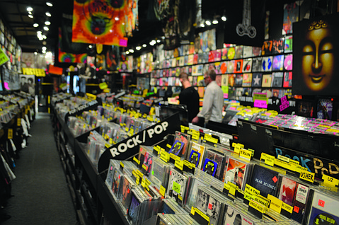 Just Play Music's collection of records.