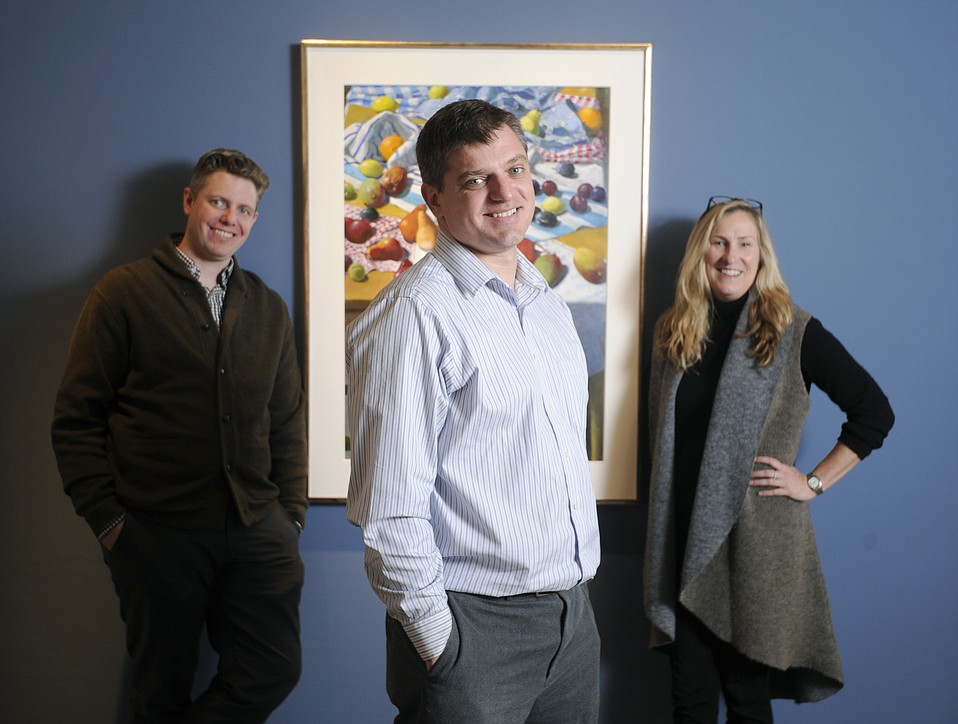 Nathan Vonk (center) is the new owner at Sullivan Goss, where Jeremy Tessmer and Susan Bush are curators.