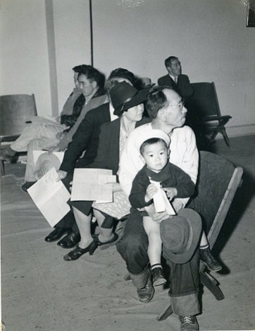 A Santa Barbara family awaits deportation in 1942.