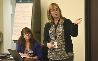 Pam Fisher (right) and Tammy Summers are leading the charge for Laura's Law for the Department of Behavioral Wellness.
