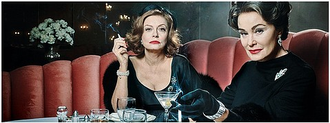 Susan Sarandon plays Bette Davis opposite Jessica Lange as Joan Crawford in FX's Feud.