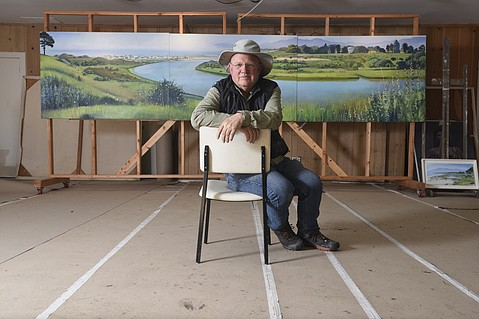 Hank Pitcher at his studios in Isla Vista