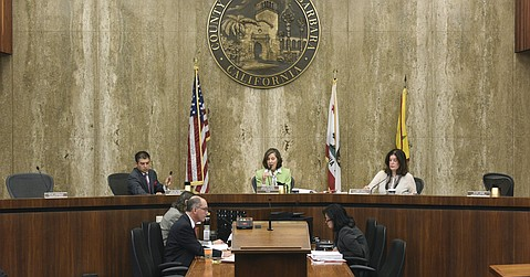 County supervisors discuss authorizing Chair Joan Hartmann to send a letter urging the San Luis Obispo County Board of Supervisors to deny the Phillips 66 application for its Rail Spur Extension Project