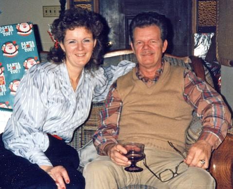 Ilene McNamara Miele and her father, Jack McNamara, in 1986