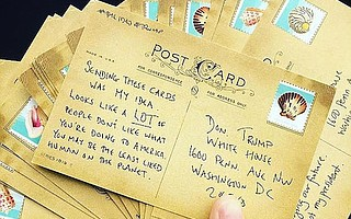 The Ides of Trump successfully sent over a million postcards to the White House, including a healthy handful from organizer Zack Kushner.