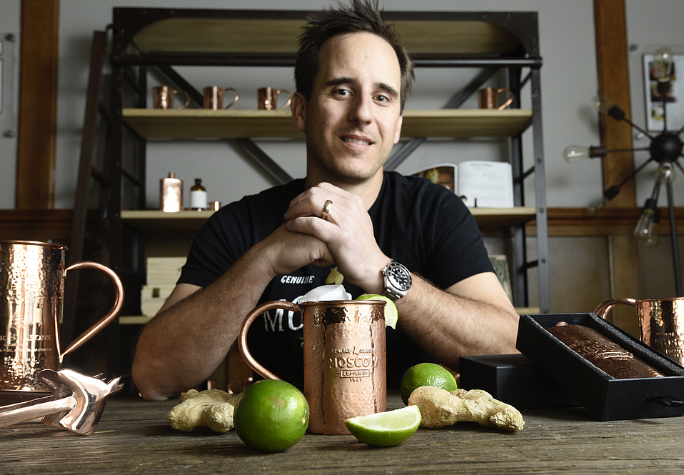 JJ Resnick's family has long told the story of how his great-grandma Sophie Berezinski brought the copper mug component to the Moscow Mule cocktail. He's celebrating that next Friday with the launch of his new book of drink recipes, just the latest in a successful line of mugs and other accessories.