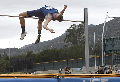 Derek Drouin recorded a new work record high jump of 7-5.75 at Westmont
