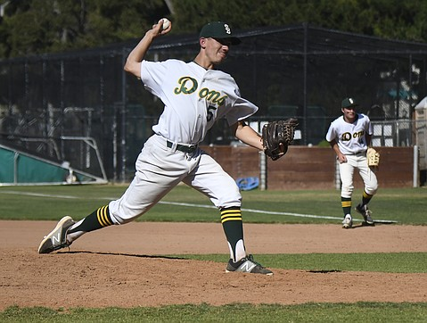 Senior Bijan Palme tossed a complete seven-inning game in Santa Barbara's 2-1 victory over San Marcos.
