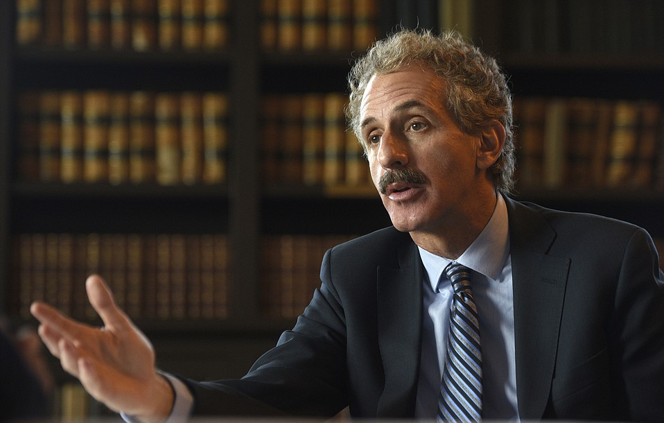 Los Angeles City Attorney Mike Feuer spoke with the Santa Barbara Coalition Against Gun Vilolence on May 7.